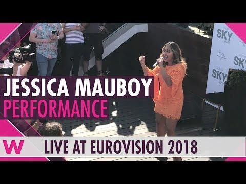 Jessica Mauboy We Got Love @ Australias ambassadors party in Lisbons Sky Bar | wiwibloggs