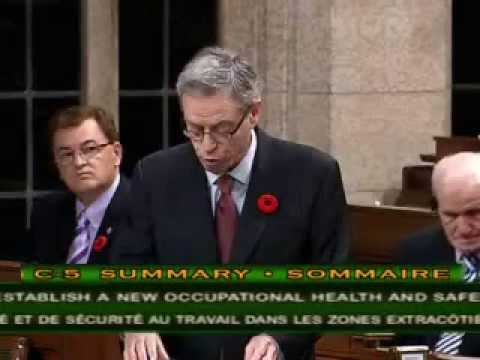 #32 Bill C-5 (Passed) Offshore Health and Safety Act