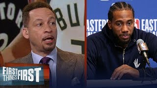 Fatigue is to blame for Raptors GM 1 collapse to Bucks - Chris Broussard | NBA | FIRST THINGS FIRST