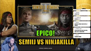 BATALLA EPICA!! - NINJAKILLA Vs SEMIIJ - Konsole Kombat II PS4 Finals - MORTAL KOMBAT 11