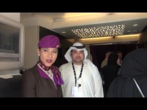 DUBAI AIRSHOW 2015 | Etihad A380-800 | Economy Class Tour