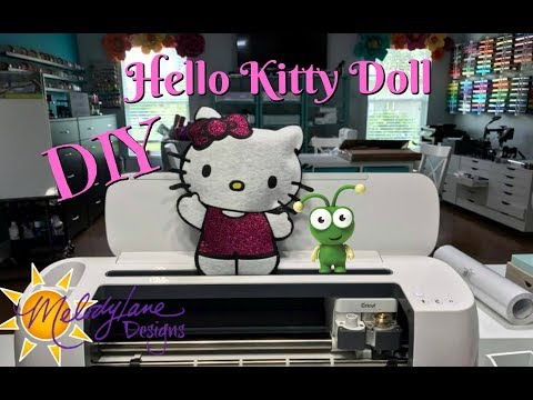 Hello Kitty Doll  No Sewing with Cricut Maker and Easy Press