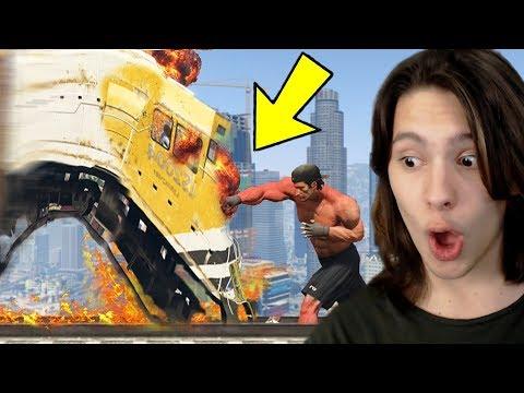 JOGANDO GTA 5 COM O HOMEM MAIS FORTE DO MUNDO!! thumbnail
