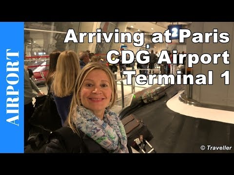 Arriving At Paris Charles De Gaulle Airport Terminal 1 - Airport Information - Air Travel Video