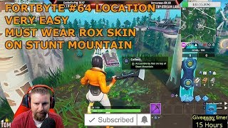 FORTNITE FORTBYTE #64 LOCATION UNLOCK ACCESSIBLE BY ROX ON TOP OF STUNT MOUNTAIN SEASON 9