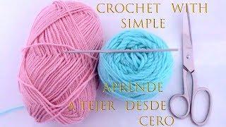 Crochet para principiantes especial aprende desde cero a tejer paso a paso tallermanualperu