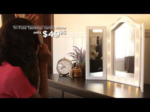 Best Choice Products' Trifold Tabletop Vanity Mirror