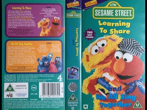 Sesame Street - Learning to Share and We All Sing Together (1998, UK VHS)