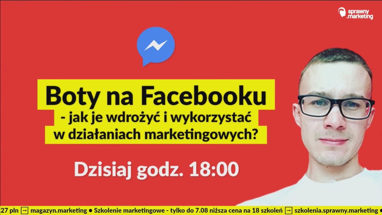 Czym są boty na Facebooku i jak z nich korzystać? Live Mateusz Czech