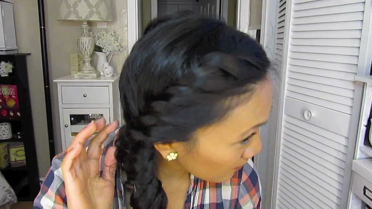 a cute hair style for wet hair - youtube