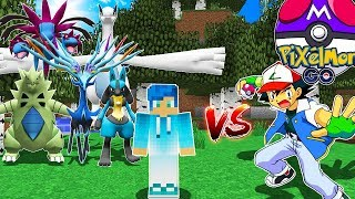 MEJOR EQUIPO POKEMON INVENCIBLE VS ENTRENADOR IMPOSIBLE | PIXELMON GO MINECRAFT POKEMON MOD 1.10.2