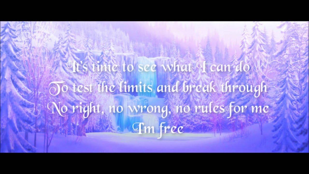 Let it Go From Frozen (Lyrics) - YouTube