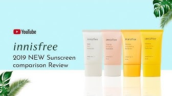 [ENG.CC] innisfree 2019 NEW Sunscreen Comparison Review