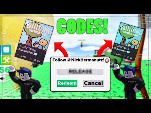All Codes In Building Simulator Roblox First Ever Building Simulator Code Roblox Youtube