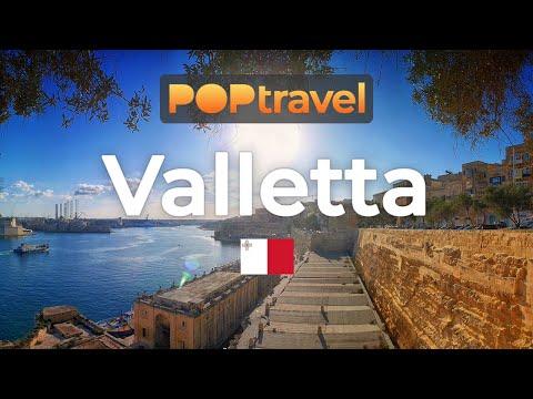 Walking in VALLETTA / Malta 🇲🇹- 4K 60fps (UHD)