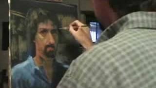 word is virus self portrait oil painting piran bishop