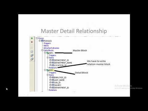 Oracle Forms Master Detail Relationship - YouTube