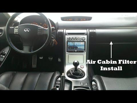 Infiniti G35 – Cabin Filter Install