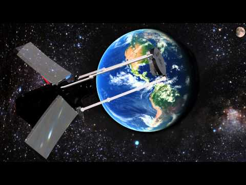 Deployable Telescope Unfolding in Orbit