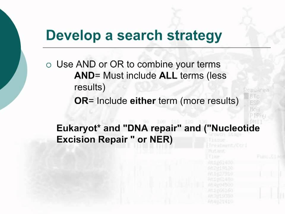 search strategy definition