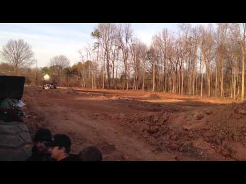 Justin Barger Stadium Super Truck Test as Robby Go...