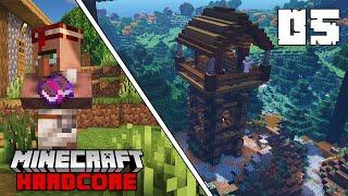 ENCHANTING WATCHTOWER & VILLAGER TRADES - Minecraft Hardcore Survival  - Episode 5