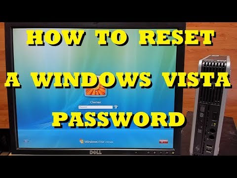 How To Reset A Password In Windows Vista