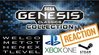 My Reaction To Sega Genesis Classics Collection Trailer Mega Drive Collection PS4 Xbox One Steam