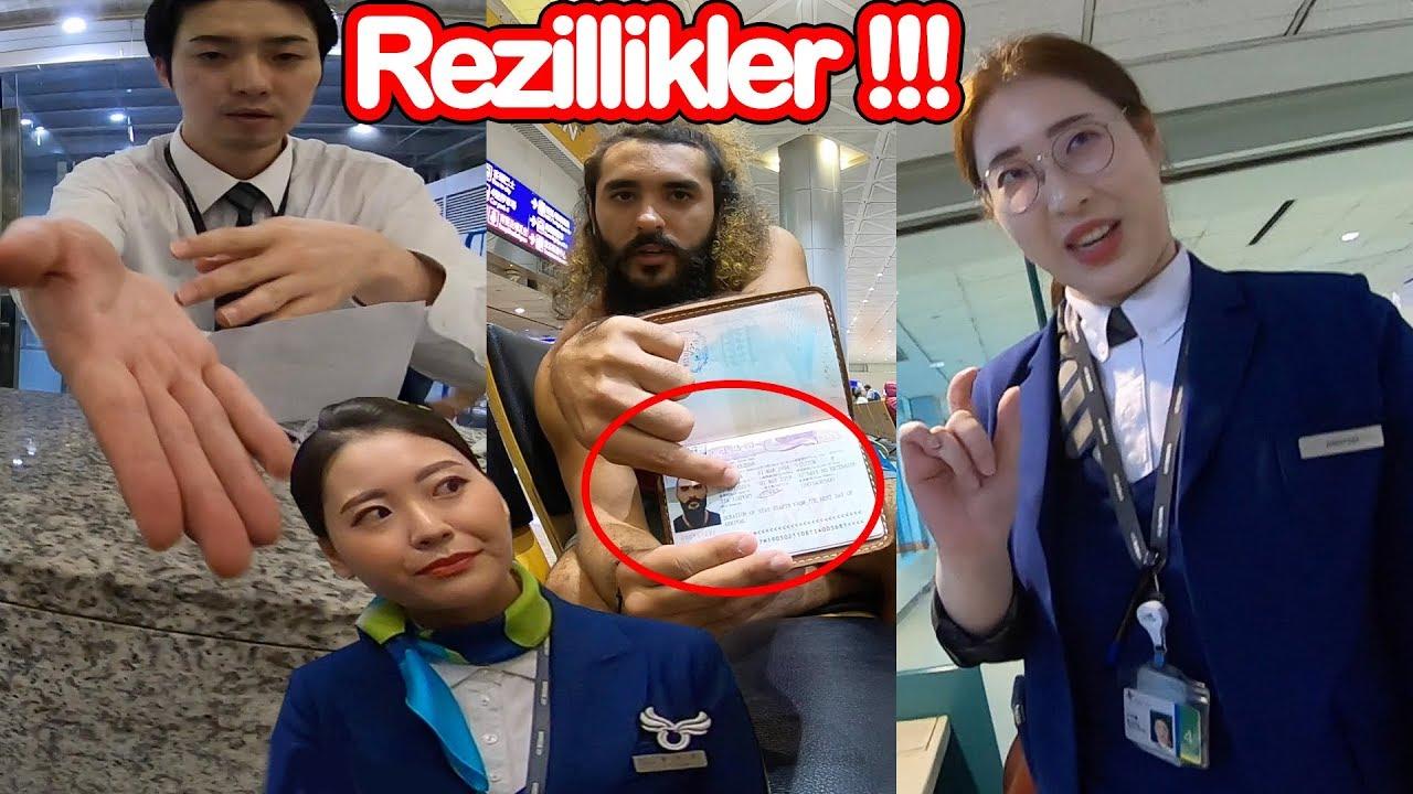 KORE'NİN REZİL HAVAYOLU ŞİRKETİ AIR BUSAN (Para teklif ettiler!) ~144