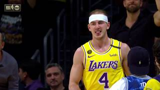 Alex Caruso Blocks and Gets And-1 On Lonzo Ball