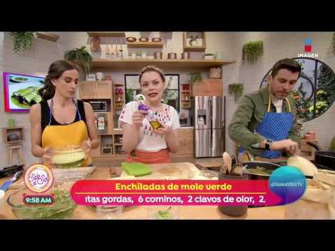 Receta: Enchiladas de mole verde - YouTube