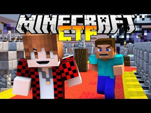 "Minecraft ""CASTLE WARS"" Capture the Flag Mini-Game!"