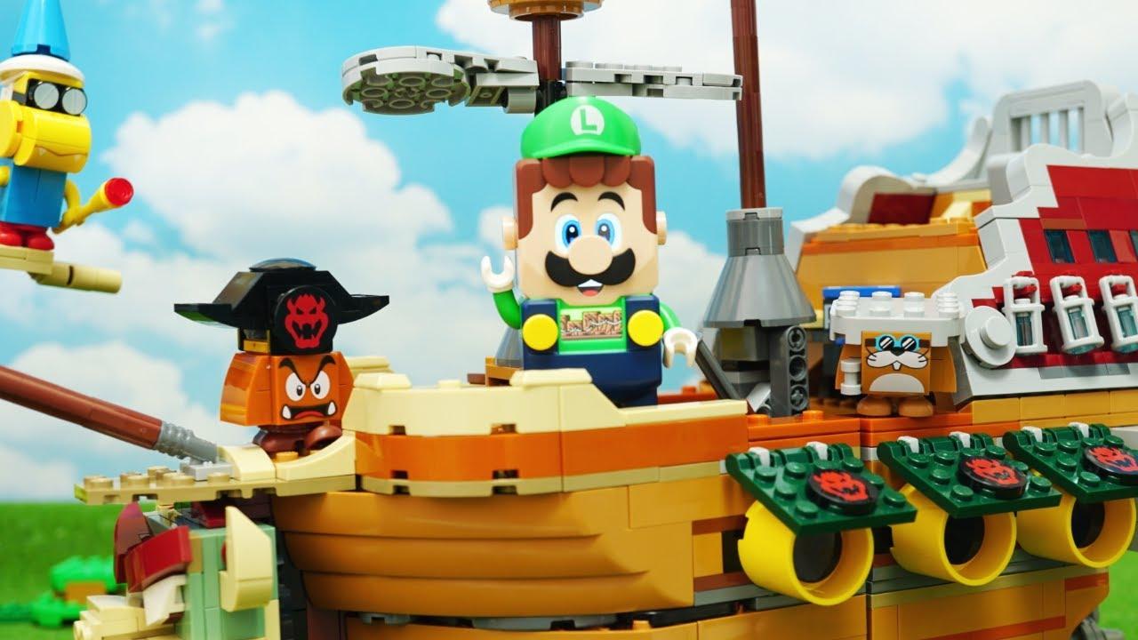 LEGO Super Mario stopmotion anime!「Bowser's Airship Expansion Set Part2」「クッパの飛行船、中編」
