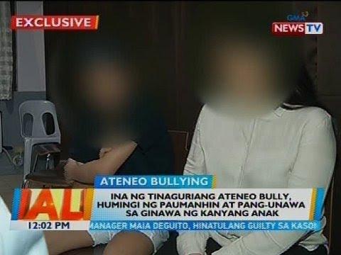 Ina ng tinaguriang Ateneo bully, humingi ng paumanhin at pang-unawa sa ginawa ng kanyang anak
