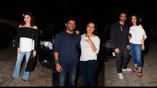 Sharddha Kapoor, Farhan Akhtar at Screening of Rock On 2   B4U Entertainment