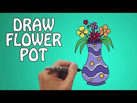Learn How To Draw A Flower Pot In Easy Steps Basic Drawing Lessons