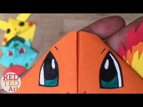 Easy Charmander DIY - Pokemon Bookmark - Origami Inspired - Pokemon Go