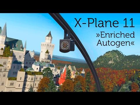 """X-Plane 11 – Amazing scenery! Orthophotos? No! – """"Enriched Autogen""""!"""