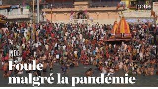 Des milliers de pèlerins rassemblés sur les rives du Gange malgré la pandémie
