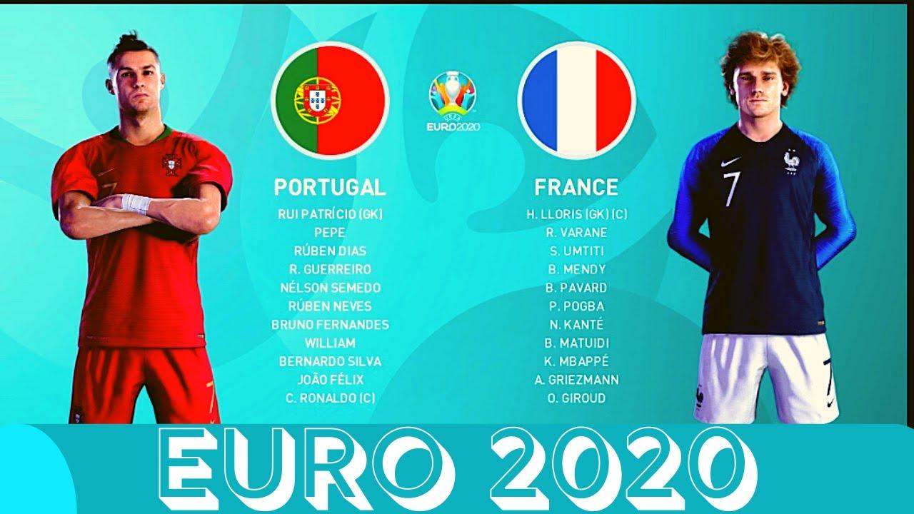 EURO 2020 - PES 2020 - PORTUGAL VS FRANCE - YouTube