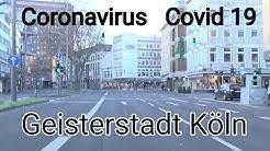 Autofahrt durch Köln am 05 04 2020 , Südstadt - Innenstadt (Dom) - Mediapark - A57,kein Stau/Verkehr
