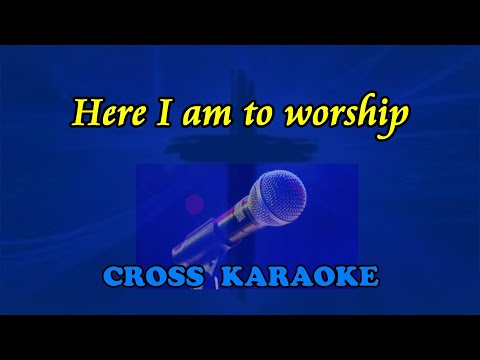 Here I am to worship - karaoke backing with lyrics by Allan Saunders