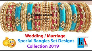 My over all Silk Thread Bangles Collection part 24 // special Wedding / marriage Bangles designs