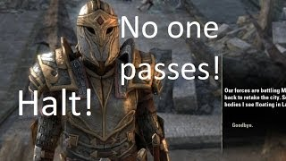 ESO Beta: What happens if... You try to reach the Imperial City?