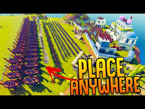 Defending The Ultimate TABS Fortress - Place Anywhere Mod Makes Maps New - TABS Gameplay