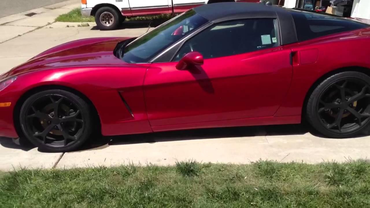 C6 corvette black wheels - YouTube