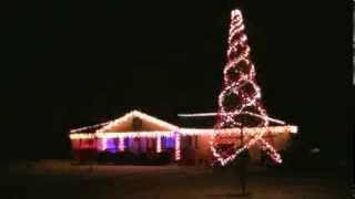 Christmas lights,  Carol of the Bells 2013 with 16 ft. spiral tree with 6400 lights