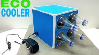 How to Make a Eco Cooler using Plastic Bottles ( Simple air cooler ) | DIY