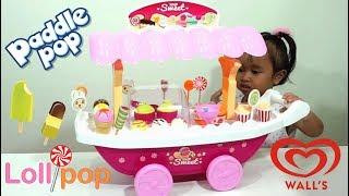 Toy Ice Cream Cart Lollipop Chocolate Strawberry For Kids  💖 Mainan Anak Gerobak Es Krim