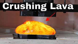 Crushing Hot Lava In a Hydraulic Press is SO Satisfying!